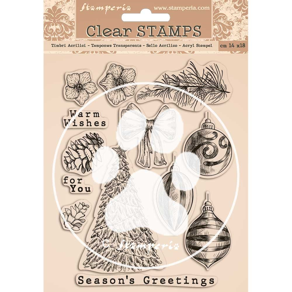 Stamperia ROMANTIC CHRISTMAS Clear Stamps wtk157 zoom image