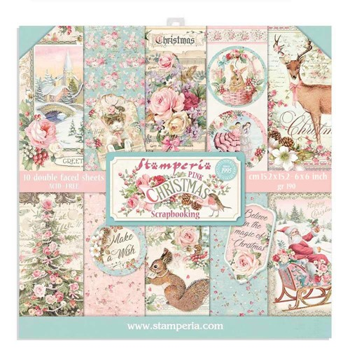 Stamperia PINK CHRISTMAS 6x6 Paper sbbxs07 Preview Image