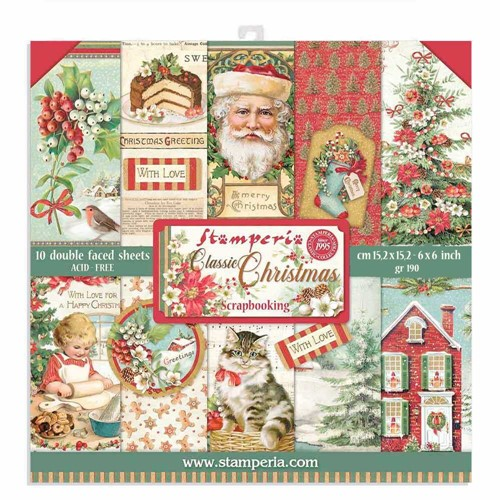 Stamperia CLASSIC CHRISTMAS 6x6 Paper sbbxs06 Preview Image