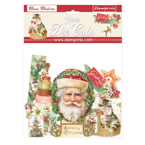 Stamperia CLASSIC CHRISTMAS Clear Die Cuts dfldcp09 Preview Image
