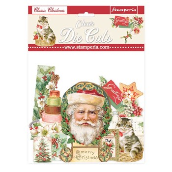 Stamperia CLASSIC CHRISTMAS Clear Die Cuts dfldcp09