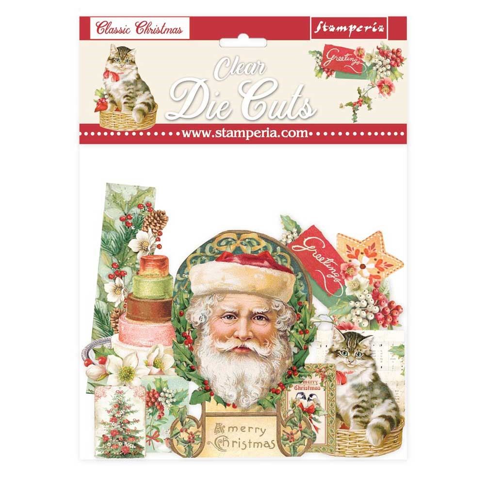 Stamperia CLASSIC CHRISTMAS Clear Die Cuts dfldcp09 zoom image