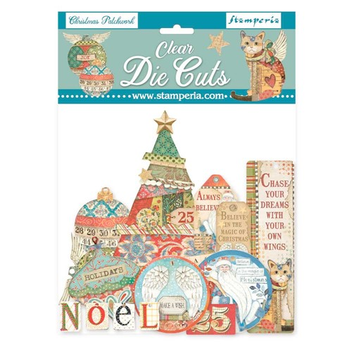 Stamperia CHRISTMAS PATCHWORK Clear Die Cuts dfldcp08 Preview Image