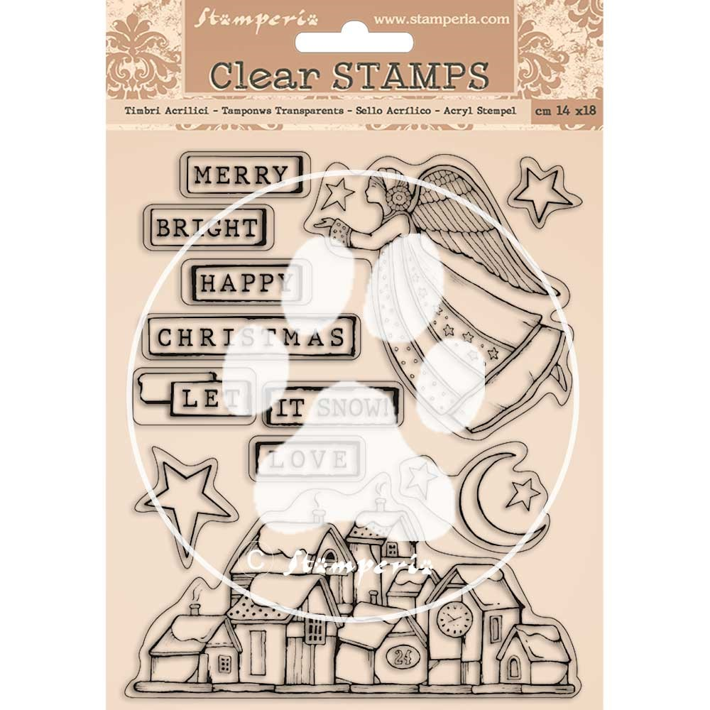 Stamperia CHRISTMAS PATCHWORK Clear Stamps wtk158 zoom image