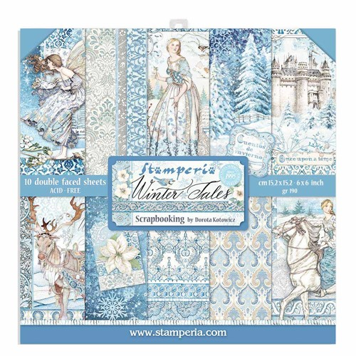 Stamperia WINTER TALES 6x6 Paper sbbxs04 Preview Image