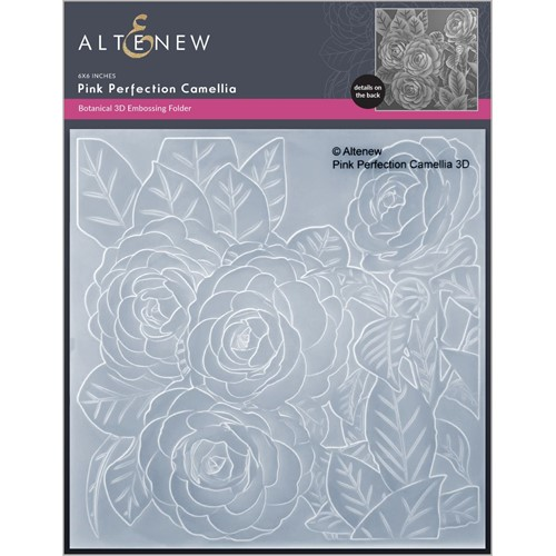 Altenew PINK PERFECTION CAMELLIAS 3D Embossing Folder ALT6457 Preview Image