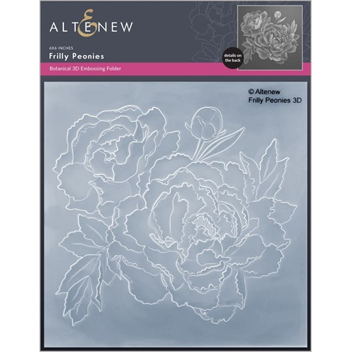 Altenew FRILLY PEONIES 3D Embossing Folder ALT6453 Preview Image