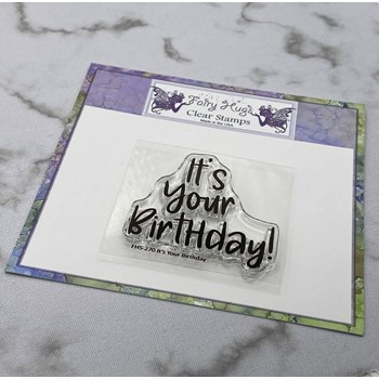 Fairy Hugs IT'S YOUR BIRTHDAY Clear Stamp FHS-270