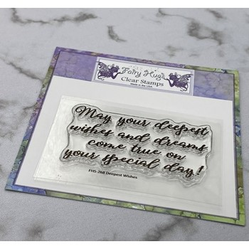 Fairy Hugs DEEPEST WISHES Clear Stamp FHS-268