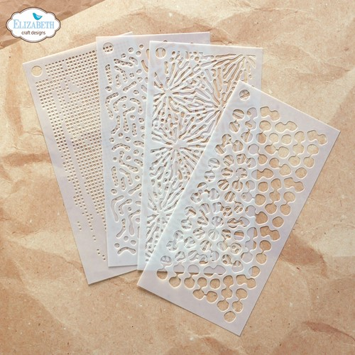 Elizabeth Craft Designs EARTH PATTERNS Stencil Pack s042 Preview Image