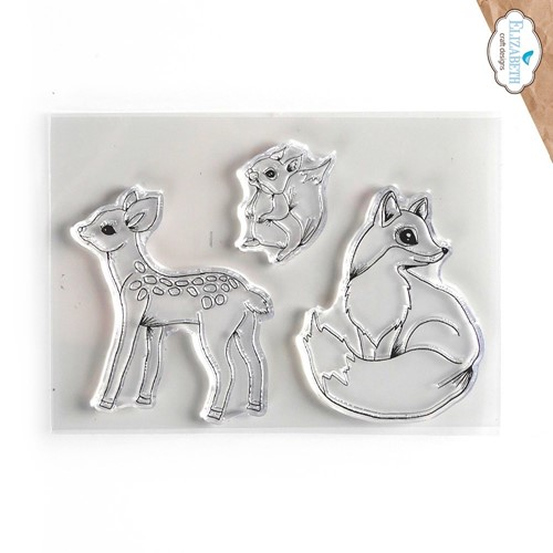 Elizabeth Craft Designs Clear Stamps WOODLAND CRITTERS cs243 Preview Image