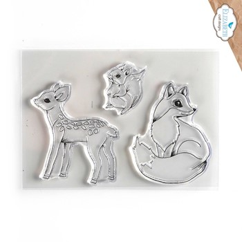Elizabeth Craft Designs Clear Stamps WOODLAND CRITTERS cs243