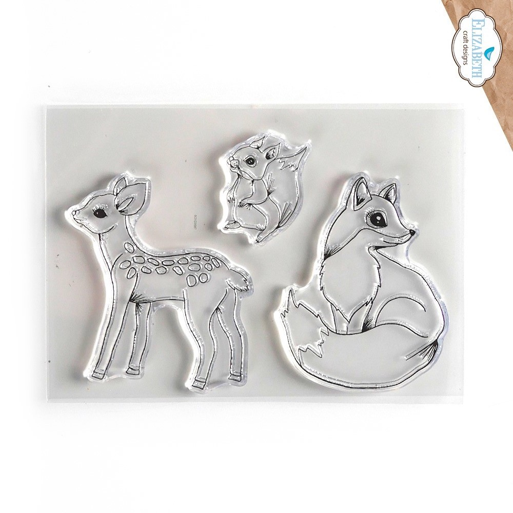 Elizabeth Craft Designs Clear Stamps WOODLAND CRITTERS cs243 zoom image