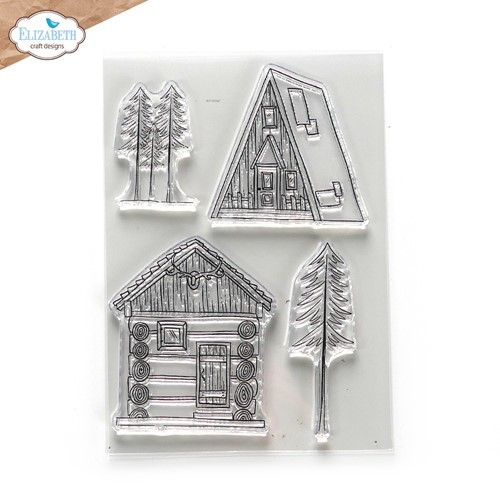 Elizabeth Craft Designs Clear Stamps CABIN LOVE cs248 Preview Image