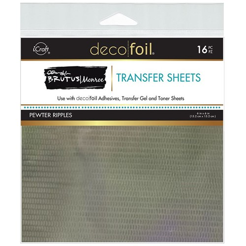 Therm O Web Brutus Monroe PEWTER RIPPLES Deco Foil Transfer Sheets 19082 Preview Image