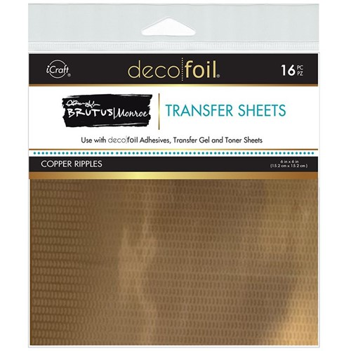 Therm O Web Brutus Monroe COPPER RIPPLES Deco Foil Transfer Sheets 19081 Preview Image