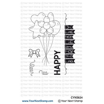 Your Next Stamp BALLOON BOUQUET Clear cyns824