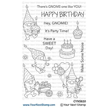 Your Next Stamp BIRTHDAY GNOMIES Clear cyns820