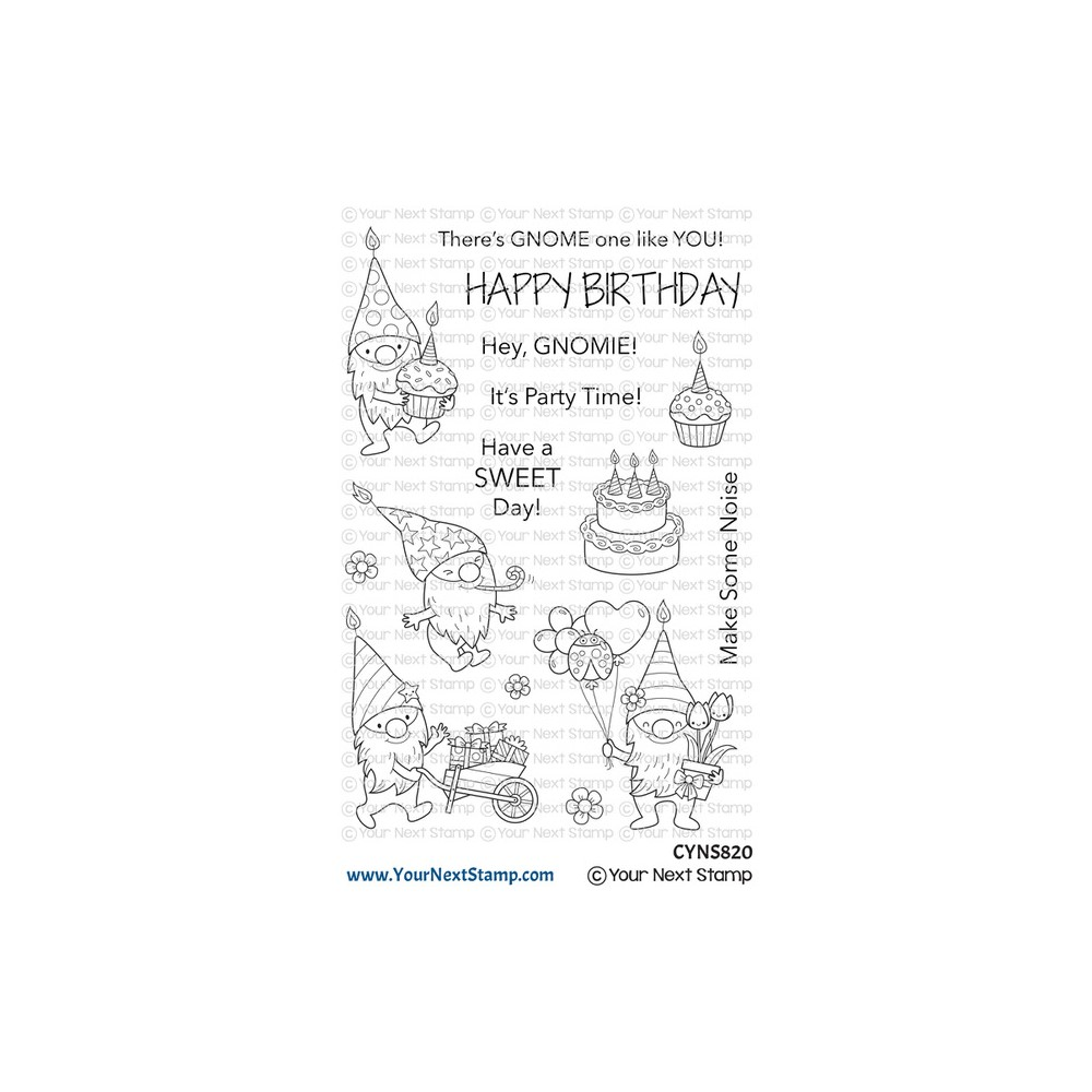 Your Next Stamp BIRTHDAY GNOMIES Clear cyns820 zoom image