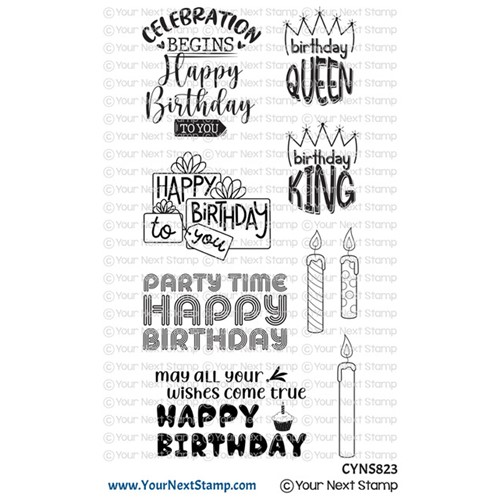 Your Next Stamp BIRTHDAY GREETINGS Clear cyns823 Preview Image