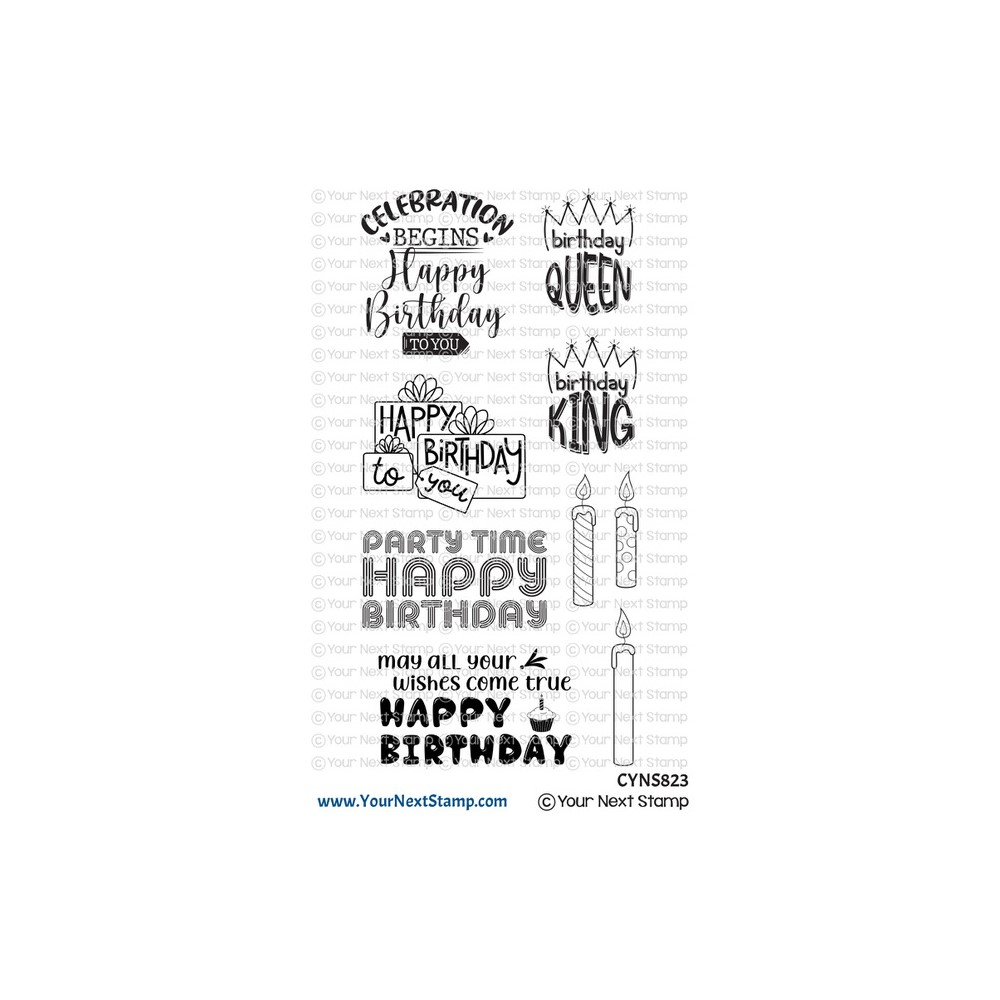 Your Next Stamp BIRTHDAY GREETINGS Clear cyns823 zoom image