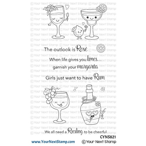 Your Next Stamp CRAFTY COCKTAILS Clear cyns821 Preview Image