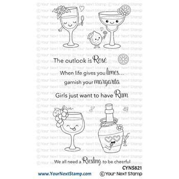 Your Next Stamp CRAFTY COCKTAILS Clear cyns821