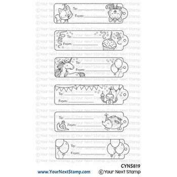 Your Next Stamp CUTE BIRTHDAY TAGS Clear cyns819