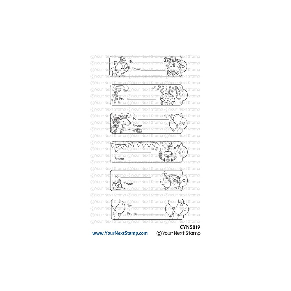 Your Next Stamp CUTE BIRTHDAY TAGS Clear cyns819 zoom image