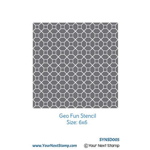 Your Next Stamp GEO FUN Stencil syns005 Preview Image