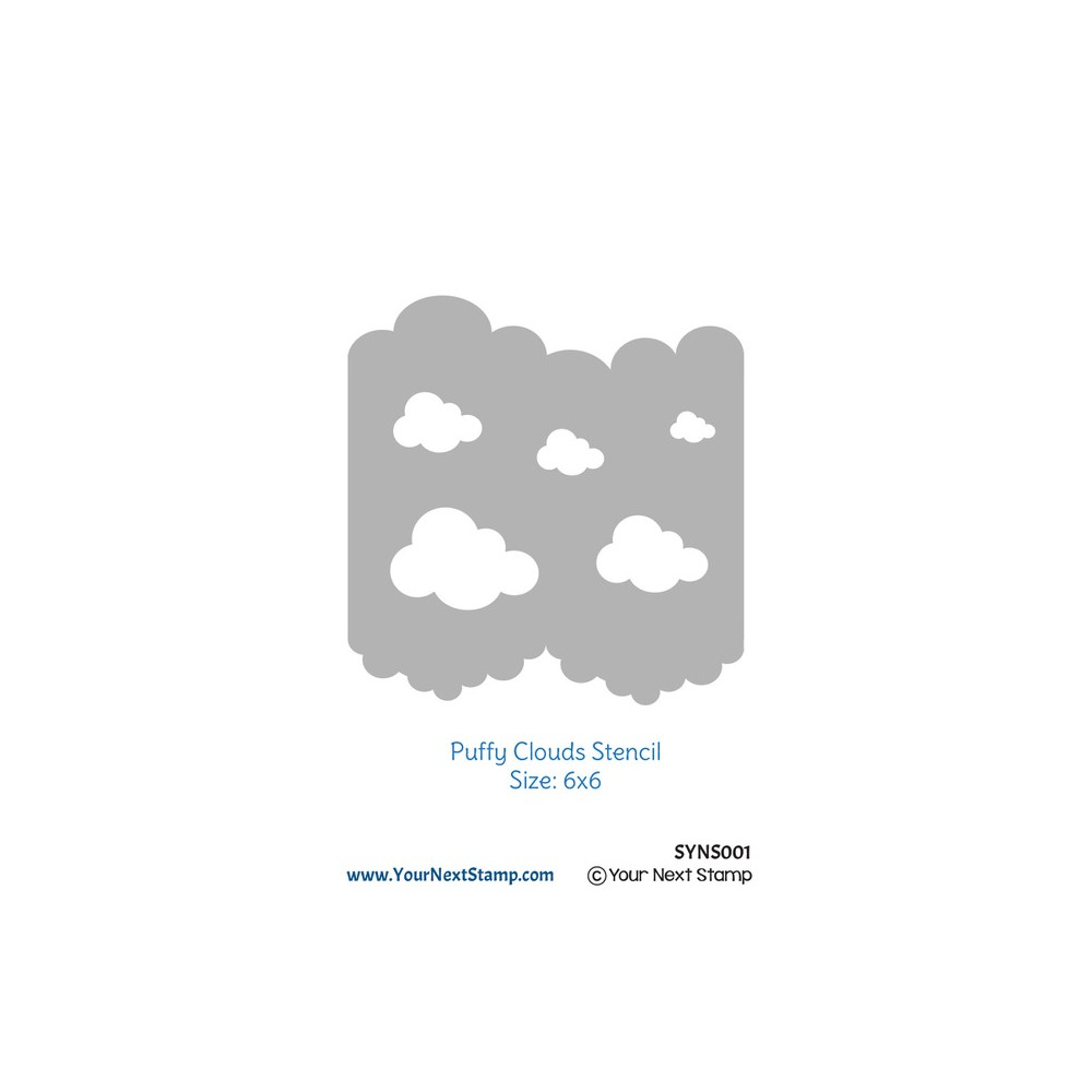 Your Next Stamp PUFFY CLOUD Stencil syns001 zoom image