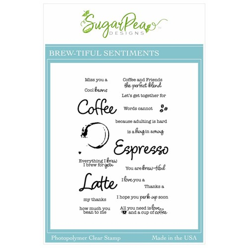 SugarPea Designs BREW-TIFUL SENTIMENTS Clear Stamp Set spd00554 Preview Image