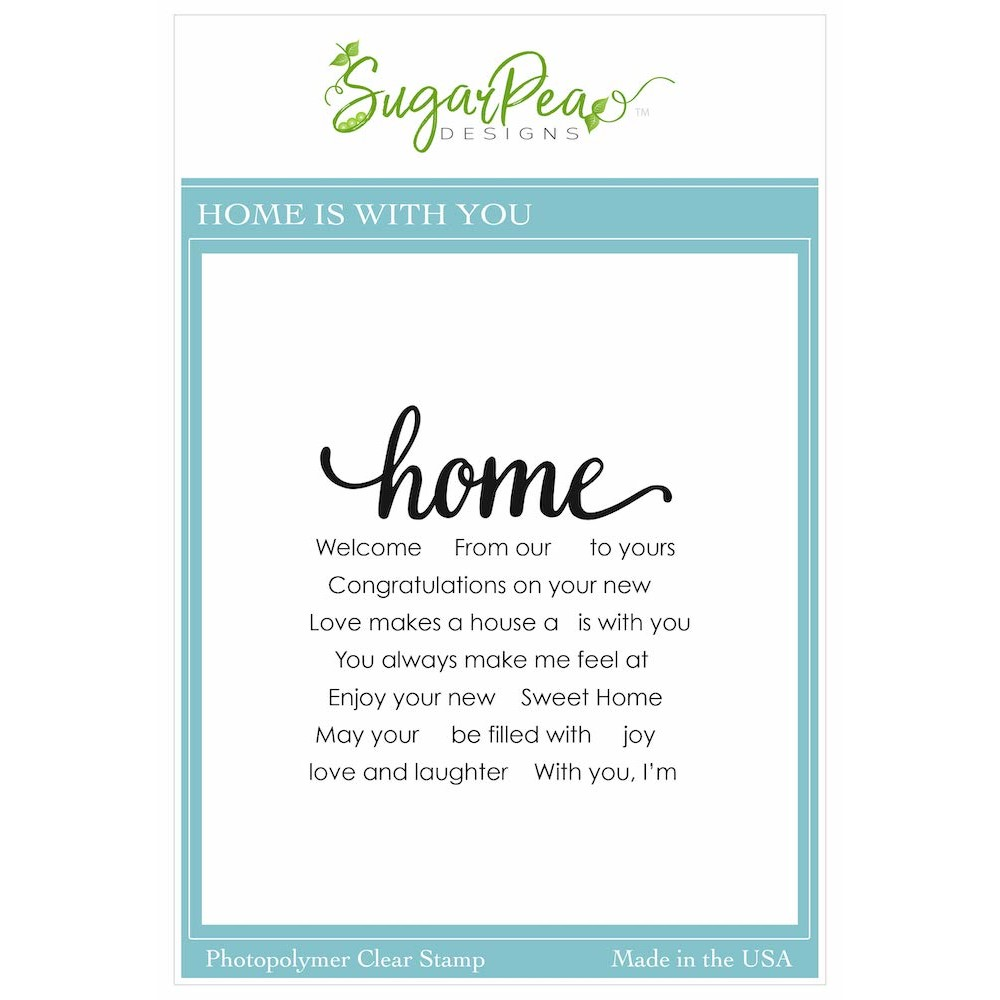 SugarPea Designs HOME IS WITH YOU Clear Stamp Set spd00549 zoom image