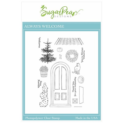 SugarPea Designs ALWAYS WELCOME Clear Stamp Set spd00545 Preview Image