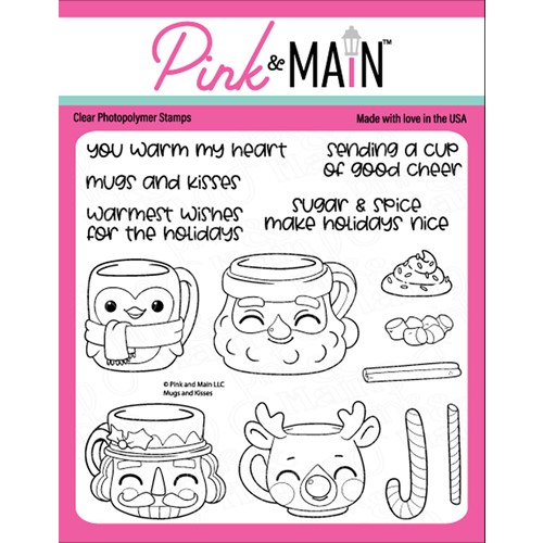 Pink and Main MUGS AND KISSES Clear Stamps PM0489 Preview Image