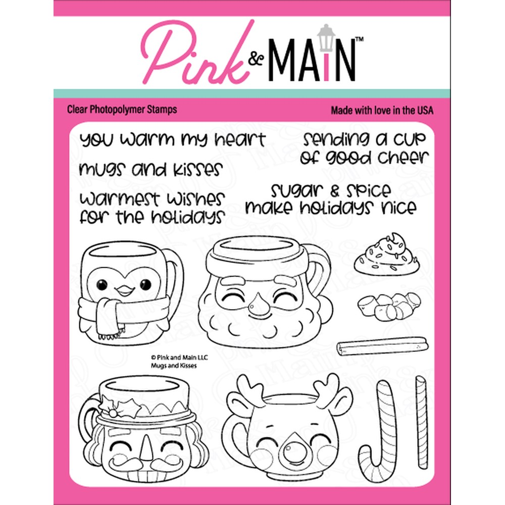 Pink and Main MUGS AND KISSES Clear Stamps PM0489 zoom image