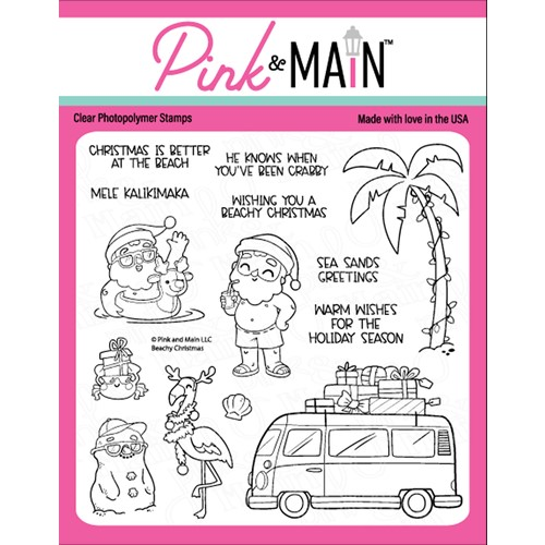 Pink and Main BEACHY CHRISTMAS Clear Stamps PM0490 Preview Image