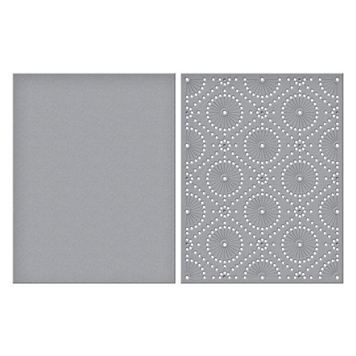 S5-490 Spellbinders CIRCULAR STITCH BACKGROUND Etched Dies Preview Image