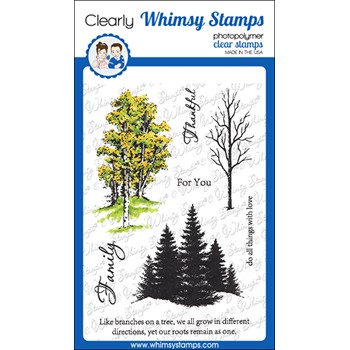 Whimsy Stamps SEASONAL TREES Clear Stamps DA1161