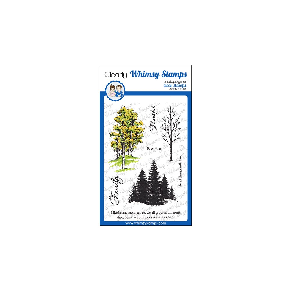 Whimsy Stamps SEASONAL TREES Clear Stamps DA1161 zoom image