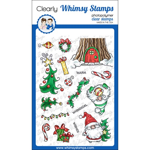 Whimsy Stamps GNOME WARM WISHES Clear Stamps C1377 Preview Image