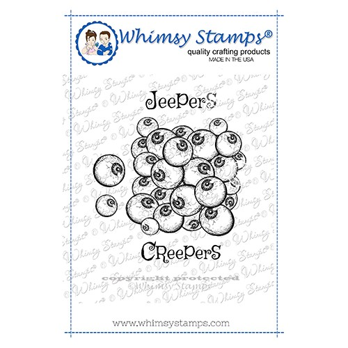 Whimsy Stamps JEEPERS CREEPERS Cling Stamp DDB0065 Preview Image