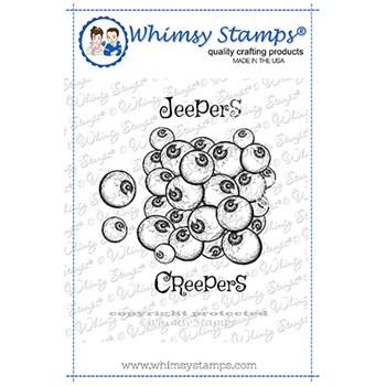 Whimsy Stamps JEEPERS CREEPERS Cling Stamp DDB0065