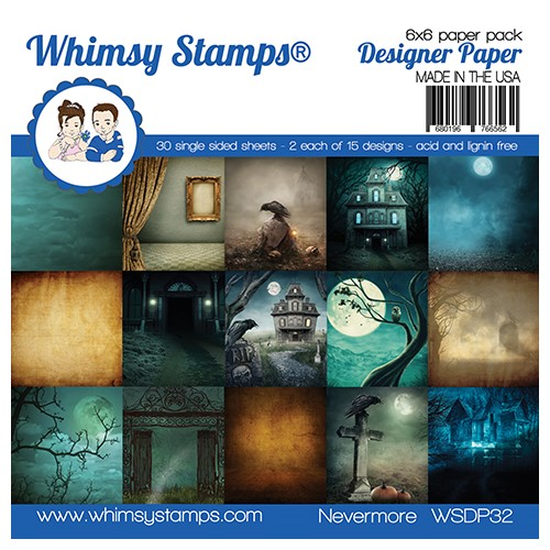 Whimsy Stamps NEVERMORE 6 x 6 Paper Pack WSDP32 Preview Image