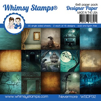 Whimsy Stamps NEVERMORE 6 x 6 Paper Pack WSDP32
