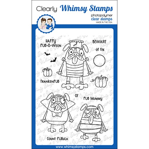 Whimsy Stamps HAPPY PUGOWEEN Clear Stamps CWSD299a Preview Image