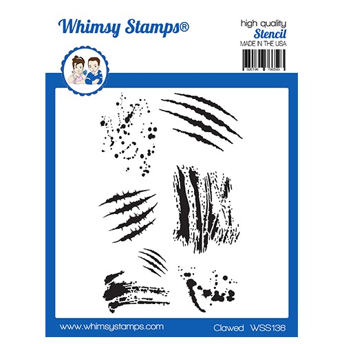 Whimsy Stamps CLAWED Stencil WSS136 Preview Image