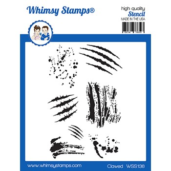 Whimsy Stamps CLAWED Stencil WSS136
