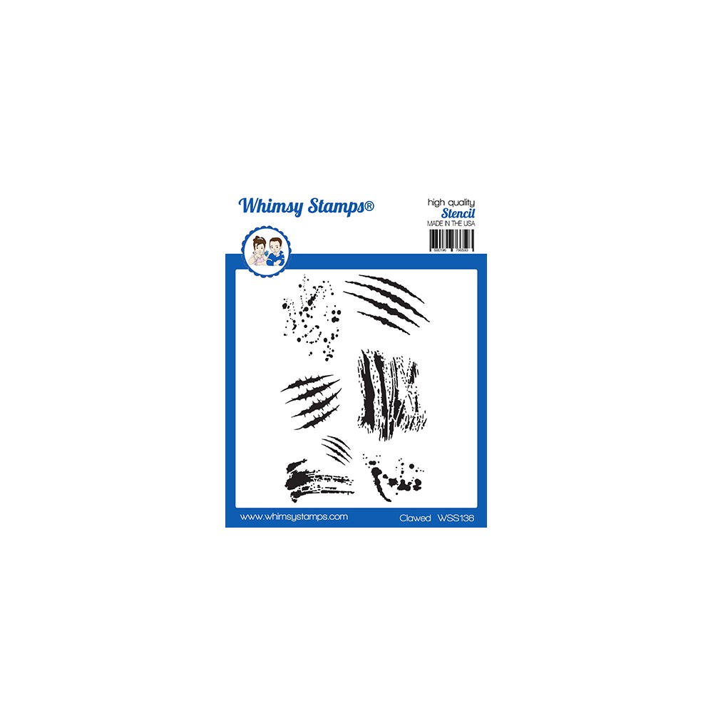 Whimsy Stamps CLAWED Stencil WSS136 zoom image