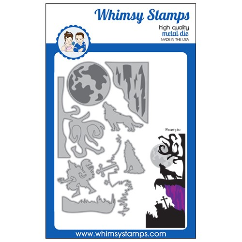 Whimsy Stamps HOWLING NIGHT Dies WSD572 Preview Image